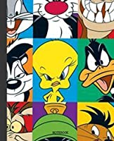 Notebook: Looney Tunes Cartoon Soft Glossy Cover Graph Paper Pages Book 7.5 x 9.25 Inches 110 Pages