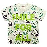 《初夏盛夏対応》 GARACH(ギャラッチ) 天竺SMILE FOR ALL PANDA半袖Tシャツ 120cm/Pl NO.AH-1621311