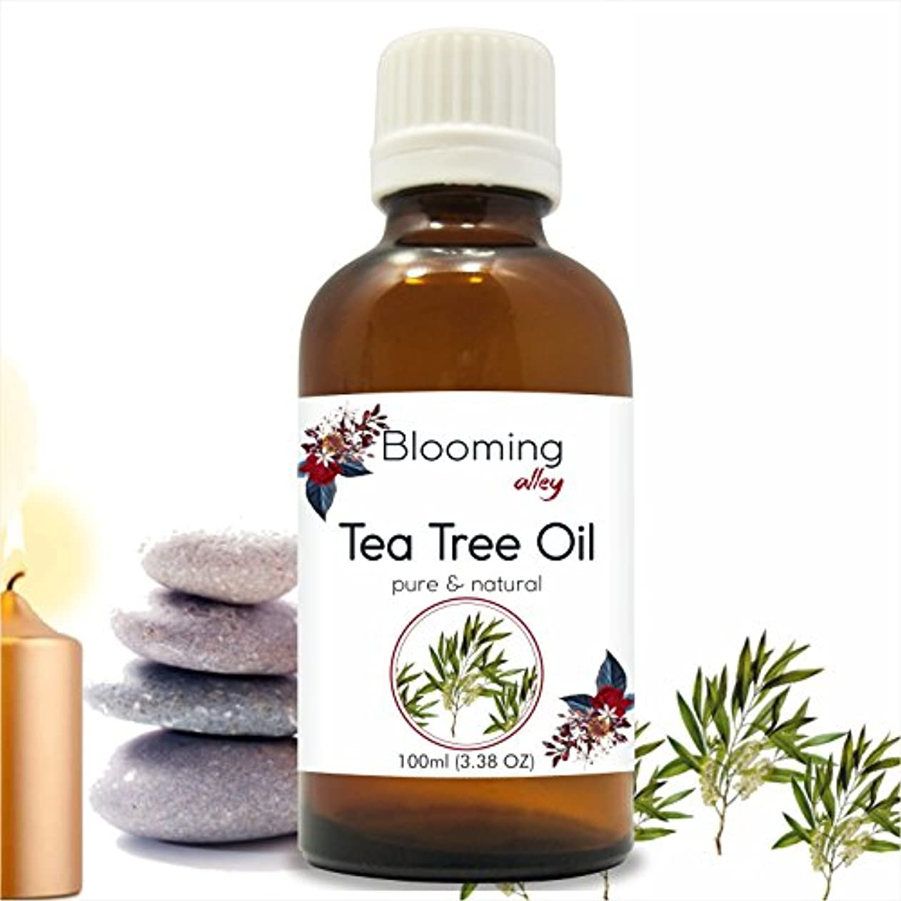 砂精通した慰めTea Tree Oil (Melaleuca Alternifolia) Essential Oil 100 ml or 3.38 Fl Oz by Blooming Alley