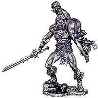 タマンを持つコナンバーバリアン。Conan The Barbarian with Tamara. Tin toy soldiers. コレクション75ミリメートル (スケール1/23)ミニチュア置物。錫のおもちゃの兵士