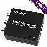 COWEEN RCA to HDMI 変換 アダプター コンポジット AV / RCA3 / CVBS to HDMIコンバーター 720P / 1080P 切り替え対応 音声転送可 AV2HDMI