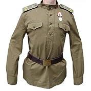 【豪華2点セット】ソビエト製 ロシア ギムナスチョルカ ベルト 軍服 オリーブ色 本物
