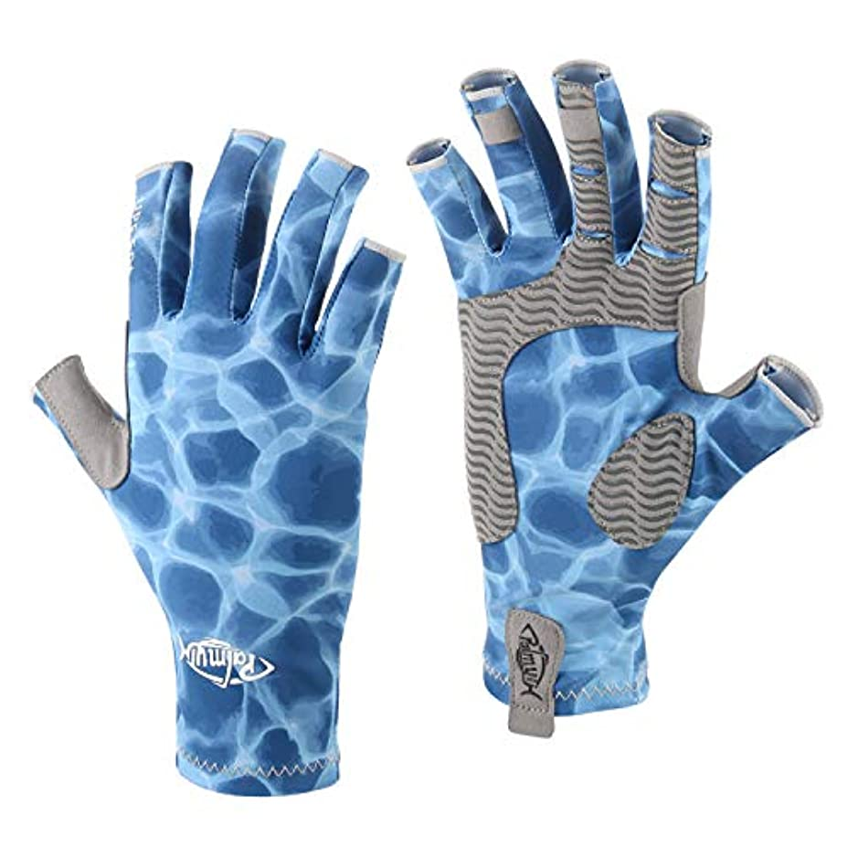 サーマル傑作スラダムpalmyth UV保護釣り指なし手袋upf50 + Sunグローブメンズレディースの駆動、カヌー、カヤック、ハイキング、Paddling、ボート