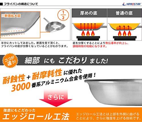 KIPROSTAR(キプロスター)『業務用アルミフライパン(表面フッ素樹脂コーティング加工)』