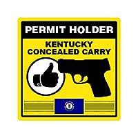 ケンタッキー州Concealed Carry Permitホルダーステッカー自己接着ビニール2A permited FAビニール