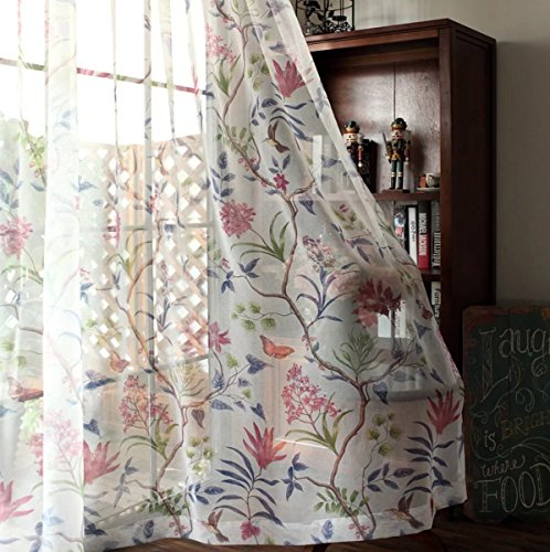 OSONA アメリカ式 田園 木 花 枝 遮光カーテン レースカーテン カスタマイズ インタリア オフィス飾り セミオーダー おしゃれ 寝室飾り 客間飾り シンプル UVカット 仕切り 遮像 花柄 二色 8サイズ