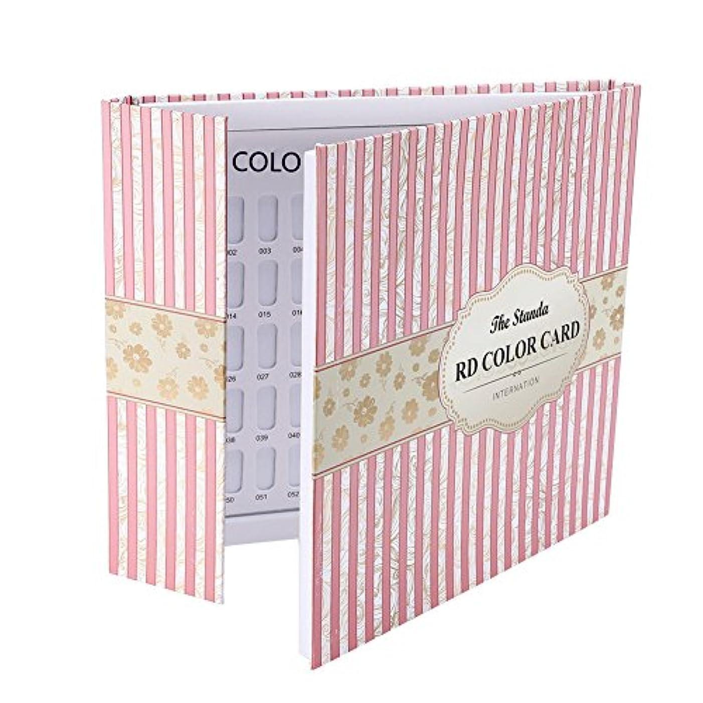 概要時代反発カラーチャート ブック - Delaman ネイル 色見本、ブック型 、ジェルネイル、カラーガイド、サンプル帳、120色 (ストライプカバー)
