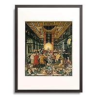 Goding the Elder, Heinrich,1531-1606 「Das letzte Abendmahl. Mitteltafel vom Altar der Frauenkirche in Muhlberg/Elbe.」 額装アート作品