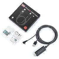Lightning to HDMIアダプタケーブル、iPhone iPad HDMI to Lightningアダプタケーブル1080p HDをテレビにHDMIデジタルAVアダプタfor iPhone iPad iPod Plug and Play by Podoorブラック
