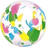 海にプールに デザイナー ビーチボール 41cm (膨らませた時の直径約28cm) 42130 浮き輪 浮き袋