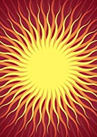 igsticker ポスター ウォールステッカー シール式ステッカー 飾り 364×515㎜ B3 写真 フォト 壁 インテリア おしゃれ 剥がせる wall sticker poster 001099 ユニーク 太陽 SUN