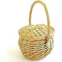 シンプルバスケットバッグ かごバッグ カゴバッグ バケット ハンドバッグ ハンドメイド かばん ウィロー レディース DONOBAN ORIGINAL ドノバンオリジナル