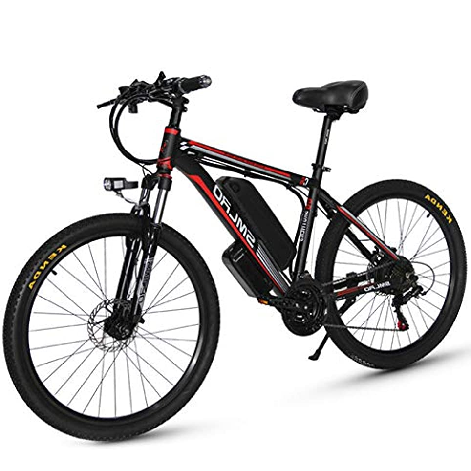 純粋なお願いします橋メンズマウンテン電動自転車、電動自転車48V 350W 10 / 15Ahリチウム電池合金アルミニウム軽量E-バイク、3つの動作モード、27速ギア