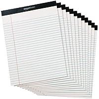 Amazonベーシック メモ帳 ワイド罫リーガルパッド 30×22cm ホワイト 50枚×12冊