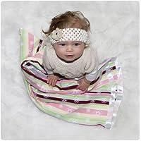 Woombie 30 Square Blanket - Rainbow Stripe Girl-0-12m by Woombie