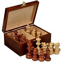 Staunton No. 4 Tournament Chess Pieces w/ Wood Box