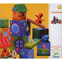 Djeco / Cubanimo 17-Piece Nesting Block Set with Animal Friends [並行輸入品]