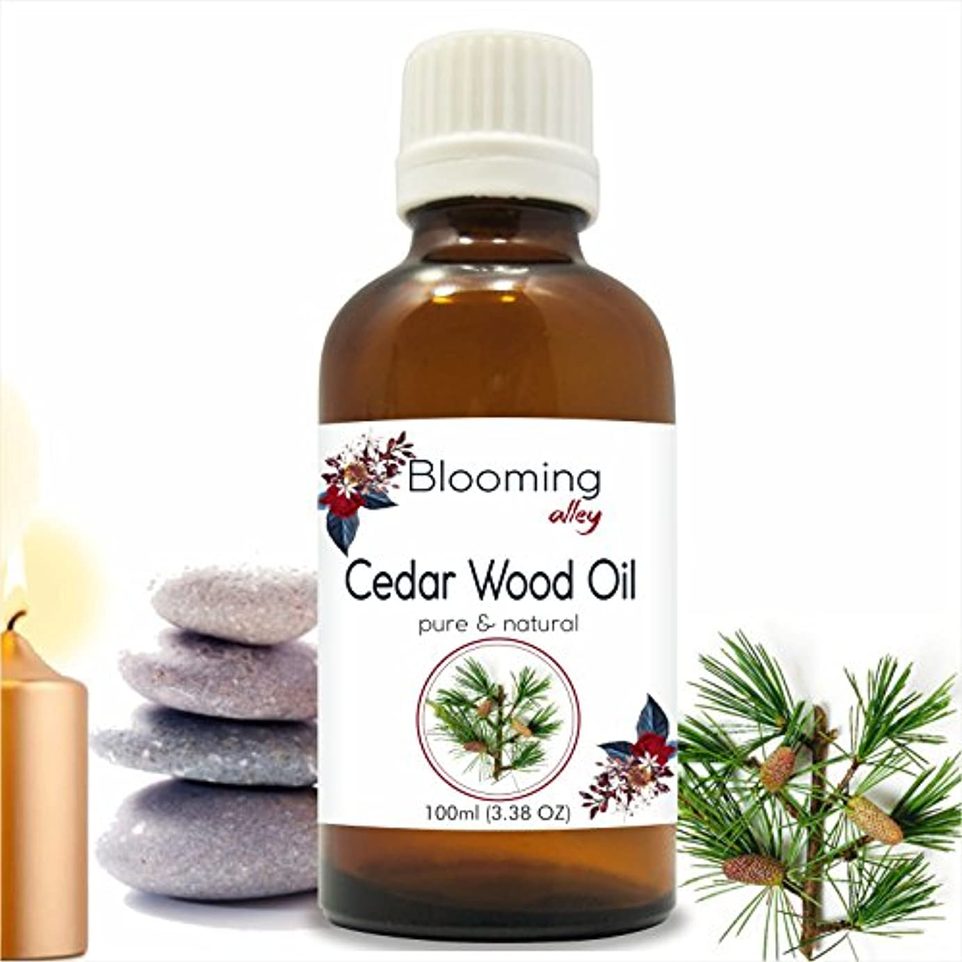 独占幅代わりのCedarwood Oil (Juniperus Virginiana) Essential Oil 100 ml or 3.38 Fl Oz by Blooming Alley