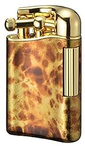 【SAROME限定品】 フリント ガス ライター 白檀塗金マーブル/ゴールド0.2μ PSD12LE-04