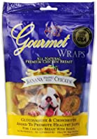 Loving Pets All Natural Premium Banana and Chicken Wraps with Glucosamine and Chondroitin Dog Treats, 6 oz by Loving Pets
