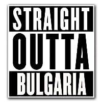MFX Design マグネット Bulgaria - Straight Outta シリーズ マグネット 車 トラック 磁気 ビニール あらゆる金属表面に貼り付く 4.7 インチ x 5.4 インチ