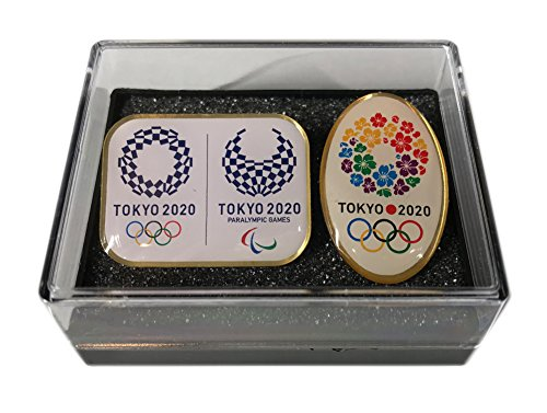 【terry_and_jun】非売品 東京 2020 オリンピック ピンバッジ コラボ 楕円 2個セット ケース付