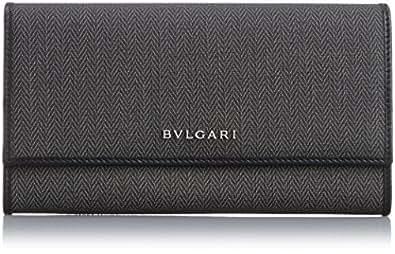[ブルガリ] BVLGARI 長札(ファスナー付) 32585 BLACK (ブラック)[並行輸入品]