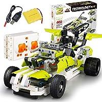 リモートコントロールカー、ビルディングブロックDIYリモートコントロールカーセットキット2.4GHz RCカーモデルレーシング玩具