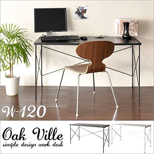 ワークデスク Oak ville【オーク ビル】幅120cm( デスク 机 パソコンデスク ライティングデスク テーブル カフェテーブル ) ブラック