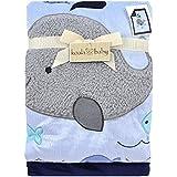 Koala Baby Blue Whale Jumbo Blanket by Triboro Quilt