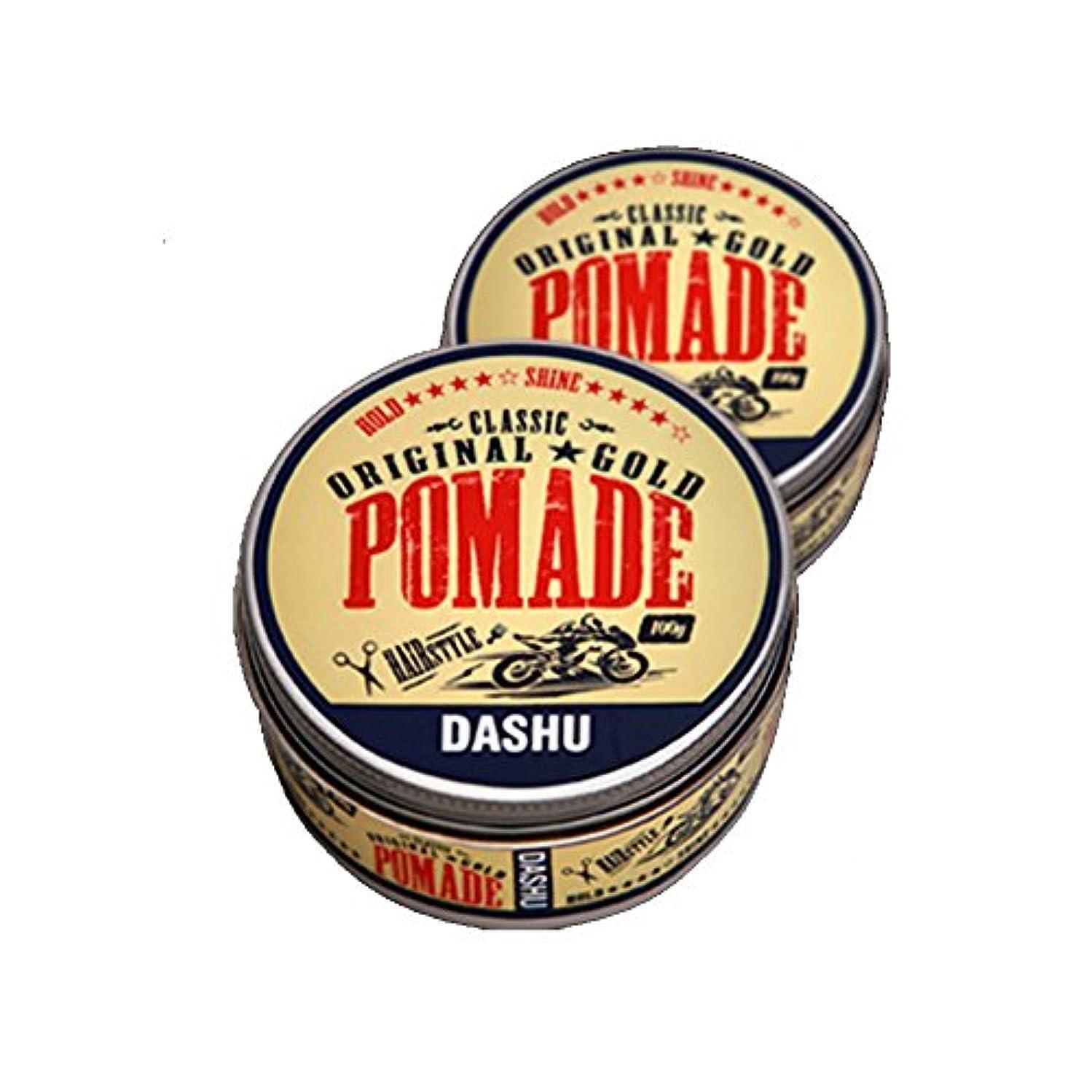 (2個セット) x [DASHU] ダシュ クラシックオリジナルゴールドポマードヘアワックス Classic Original Gold Pomade Hair Wax 100ml / 韓国製 . 韓国直送品