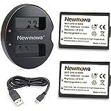 Newmowa キャノンLP-E10 互換バッテリー 2個 + 充電器 セットCanon EOS Rebel T3 T5 1100D 1200D EOS Kiss X50 EOS Kiss X70