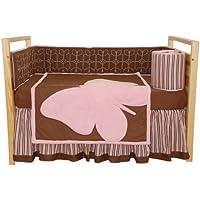 Tadpolesベビーベッドセット、バタフライ赤ちゃん、標準、4ピース