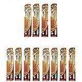 ライフレンジ 磨きやすい歯ブラシ 6列ワイドタイプ(少しやわらかめ) LT-46×12本セット
