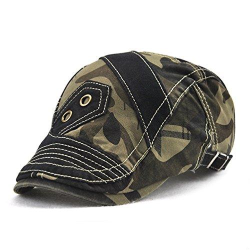 gadiemenssユニセックスコットンベレー帽フラットキャップNewsboy Hat forゴルフハンティング