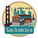 Amazon.co.jp海外旅行観光地ステッカー サンフランシスコ アメリカ 防水紙シール スーツケース・タブレットPC・スケボー・マイカーのドレスアップ・カスタマイズに