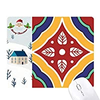 スタイルの装飾的なパターンは、タラベラ サンタクロース家屋ゴムのマウスパッド