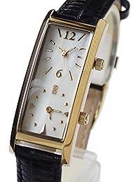 [グランドール]GRANDEUR レディースデュアルタイム腕時計 限定クロコ調型押し牛革ベルト GSX048W8 / ベルトカラー:ブラック