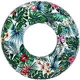 Madrugada for beach 浮き輪 大人用 直径 100cm ボタニカル 南国 リゾート ビーチ 海水浴 プール でインスタ映え抜群 S643