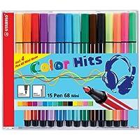 STABILO pen68 mini カラーヒット 15色セット 668-15-02
