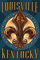 ルイビル、ケンタッキー州–Fleur De Lis 24 x 36 Signed Art Print LANT-45566-710