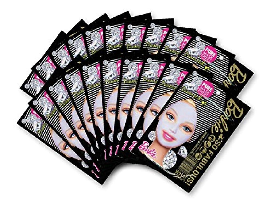 パシフィックその間幅バービー (Barbie) フェイスマスク ピュアマスクシートN (ダイアモンド) 25ml×20枚入り [保湿] 顔 シートマスク フェイスパック