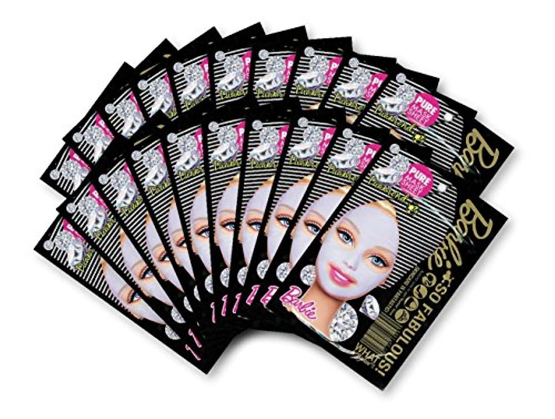 有彩色の延ばすハーフバービー (Barbie) フェイスマスク ピュアマスクシートN (ダイアモンド) 25ml×20枚入り [保湿] 顔 シートマスク フェイスパック