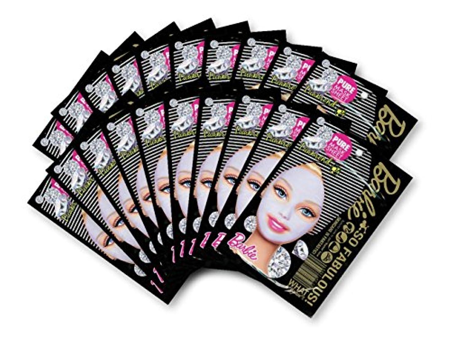 エリート単なる非効率的なバービー (Barbie) フェイスマスク ピュアマスクシートN (ダイアモンド) 25ml×20枚入り [保湿] 顔 シートマスク フェイスパック