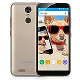 OUKITEL C8 SIMフリースマートフォン 5.5インチ 18:9 HD スクリーン 2GB+16GB Android 7.0 MTK6580A 13.0MP+5.0MP(ゴールド)