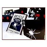 """自転車""""ブラック·スパイダー·デック""""標準デッキプラス3ガフカード  Bicycle """"Black Spider Deck"""" Standard Deck Plus 3 Gaff Cards"""