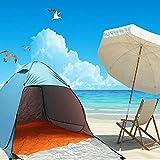 TYC 輝点 サンシェードテント UVカット ワンタッチ キャンプ・登山・ビーチに対応