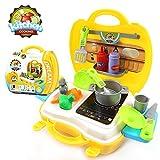 おもちゃ 子供のための玩具 お料理箱 キッチンセット 知育玩具 キットロールプレイング ギフト やさい くだもの 調理器具 キッチン道具 26点セット