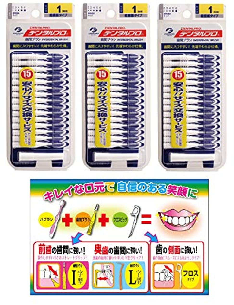 あいさつ不変シンプルな【Amazon.co.jp限定】DP歯間ブラシ15P サイズ1 3P+リーフレット