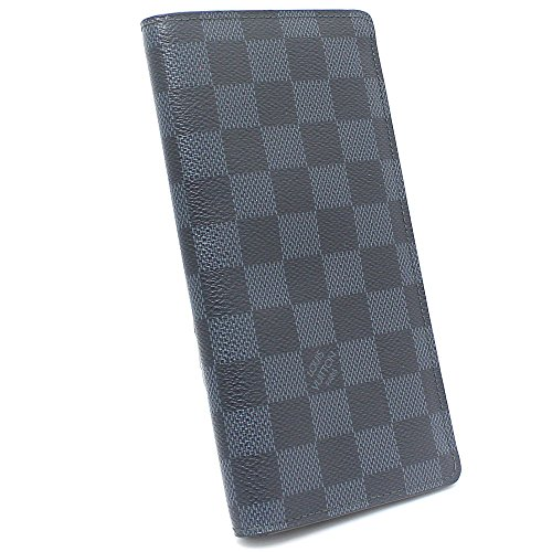 LOUIS VUITTON(ルイヴィトン) ダミエコバルト ポルトフォイユ・ブラザ 二つ折り長財布 N63212 サイフ ネイビー メンズ (中古)